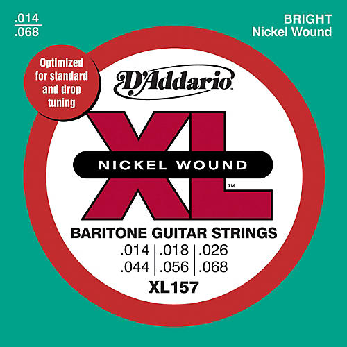 D'Addario XL157 XL Nickel Medium Electric Baritone Guitar Strings