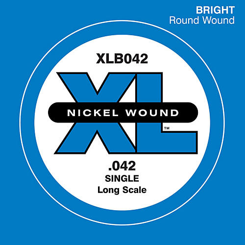 D'Addario XLB042 Nickel Would Electric Bass Single String