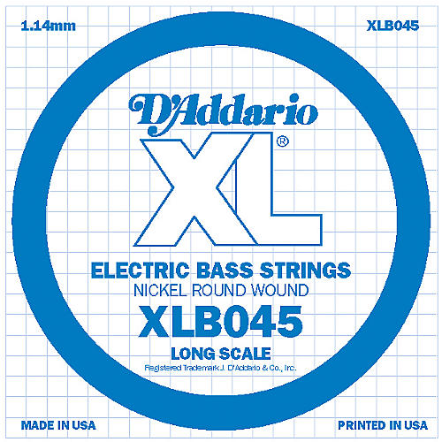 D'Addario XLB045 Nickel Wound Electric Bass Single String