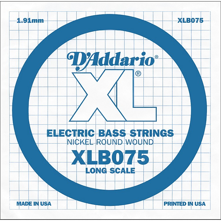 D'AddarioXLB075 Extra Long Single Bass String