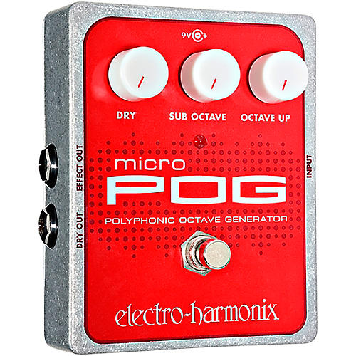 electro harmonix xo micro pog polyphonic octave generator guitar effects pedal musician 39 s friend. Black Bedroom Furniture Sets. Home Design Ideas
