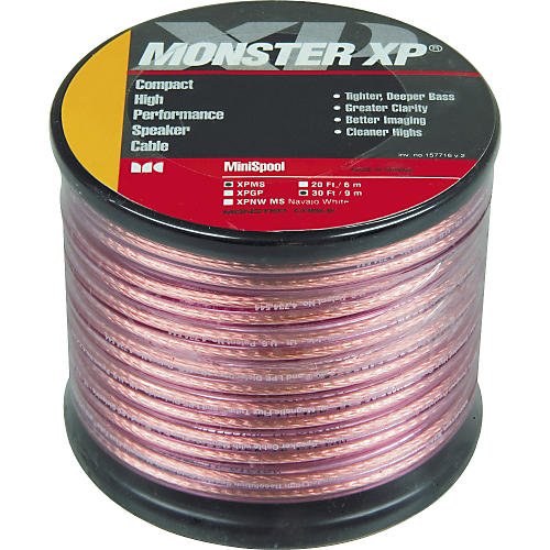 Monster Cable XP 30' Clear Jacket Compact Speaker Cable-thumbnail