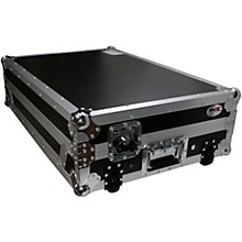 ProX XS-MCX8000WLT ATA Style Flight Road Case with Sliding Laptop Shelf and Wheels for Denon MCX8000 Black/Orange