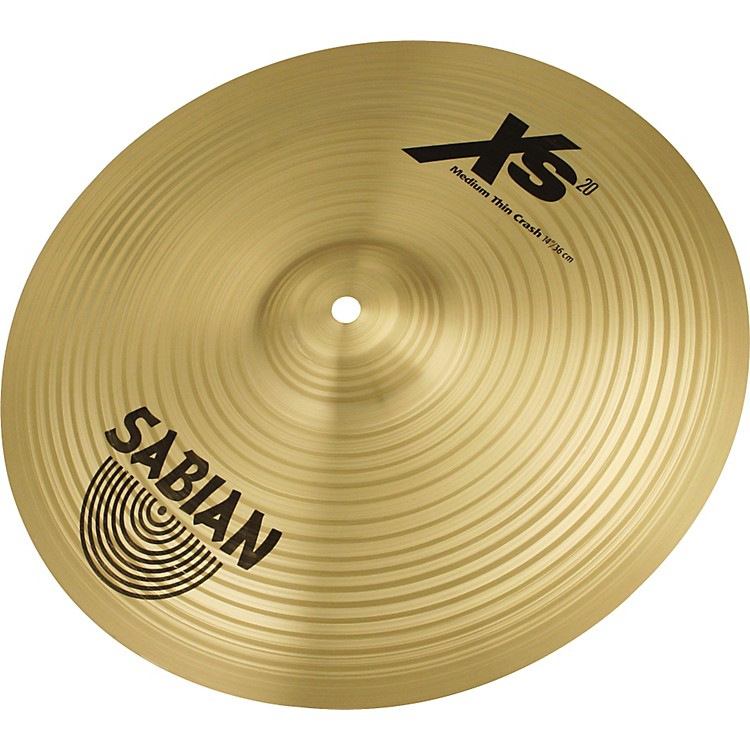 Sabian XS20 Medium Thin Crash Cymbal, Brilliant 18 Inch