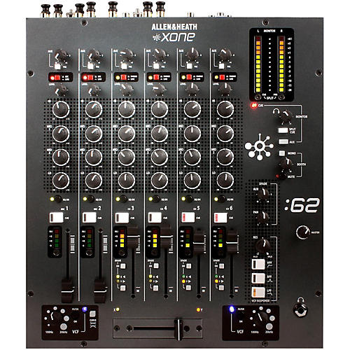 Allen & Heath Xone:62 6-Channel DJ Mixer