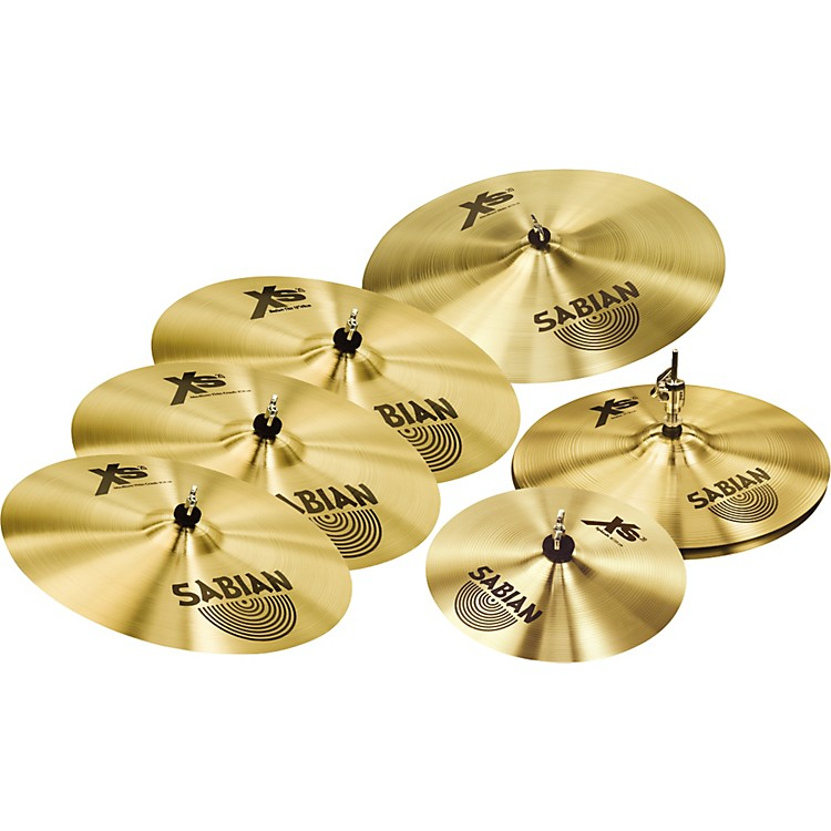 Sabian Xs20 Cymbals Super Set with Free 10