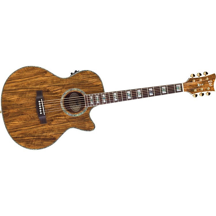 ESP Xtone Exotic Wood Cutaway Acoustic-Electric Guitar