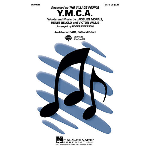 Hal Leonard Y.M.C.A. Combo Parts by The Village People Arranged by Roger Emerson
