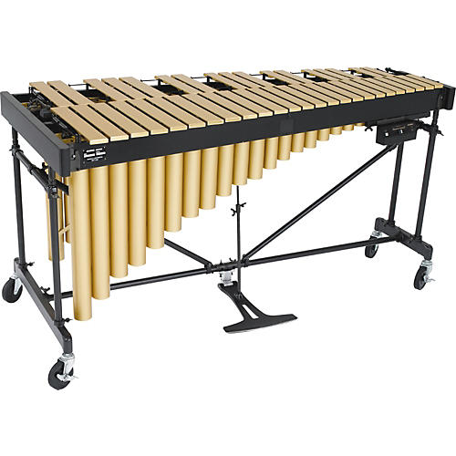 Yamaha yamaha yv 3910c professional 3 5 octave gold gloss vibraphone w cover musician 39 s friend for Yamaha 3 octave keyboard