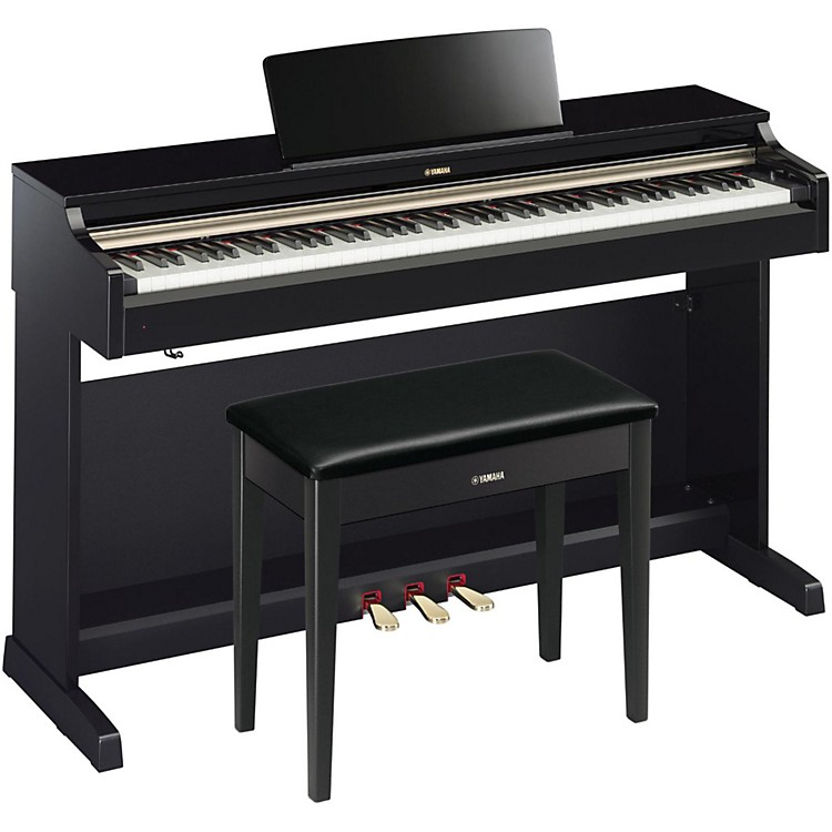 Yamaha YDP-162 88-Key Arius Digital Piano with Bench Polished Ebony