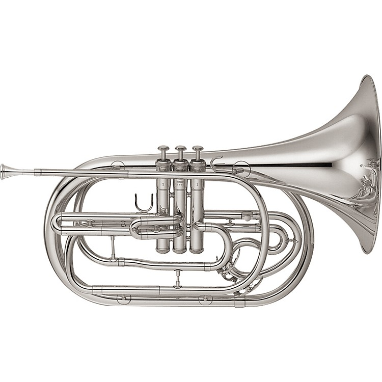 Yamaha YHR-302M Series Marching Bb French Horn Silver