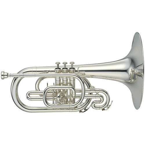 Yamaha YMP-204M Series Marching F Mellophone Silver