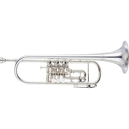 Yamaha YTR-938FFMS Custom Series Rotary Bb Trumpet Silver