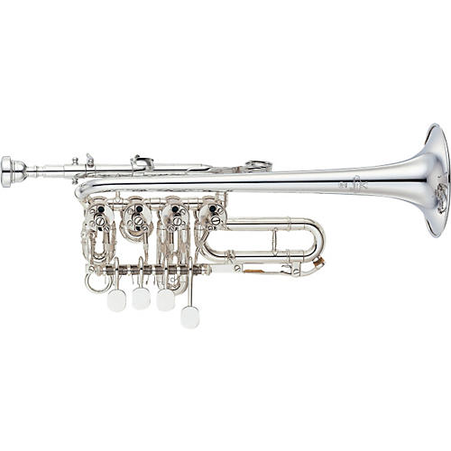 Yamaha YTR-988 Custom Series Rotary Bb / A Piccolo Trumpet Silver