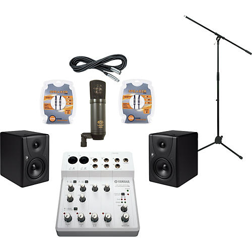 Mackie Yamaha Audiogram 6 and Mackie MR5 Recording Package