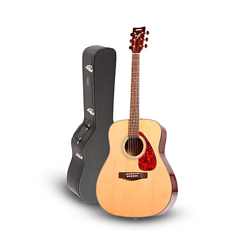 yamaha yamaha f335 acoustic guitar natural with road