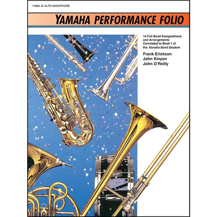 AlfredYamaha Performance Folio E-Flat Alto Saxophone