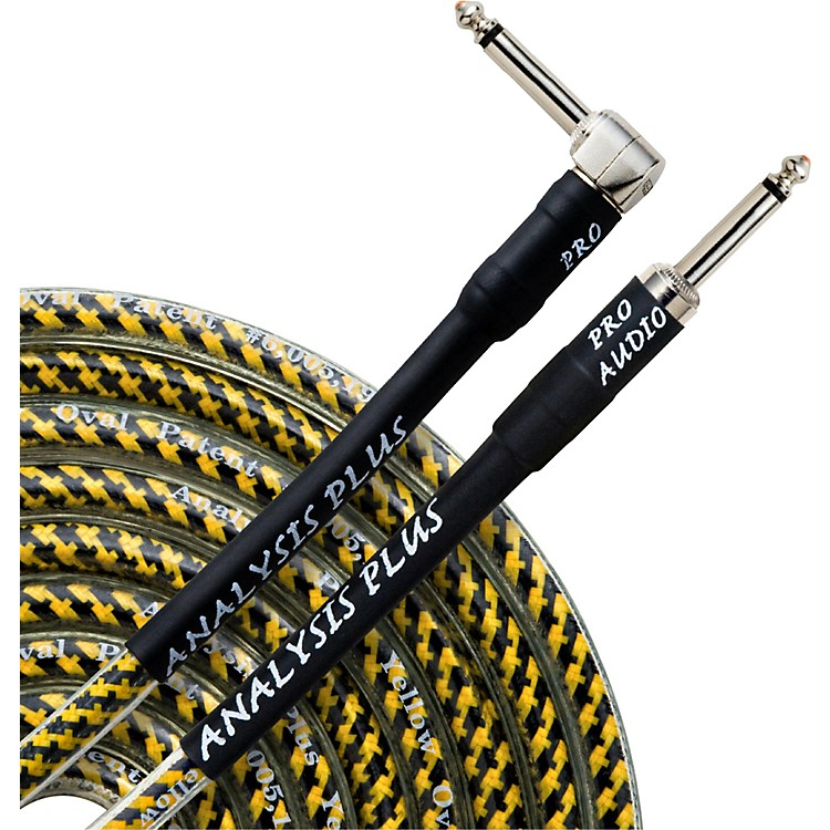 Analysis Plus Yellow Oval Instrument Cable - Straight to Angled