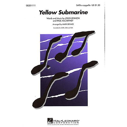 Hal Leonard Yellow Submarine SAB A Cappella by The Beatles Arranged by Mark Brymer-thumbnail