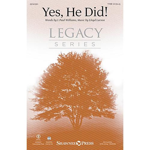 Shawnee Press Yes, He Did! TTBB composed by Lloyd Larson-thumbnail
