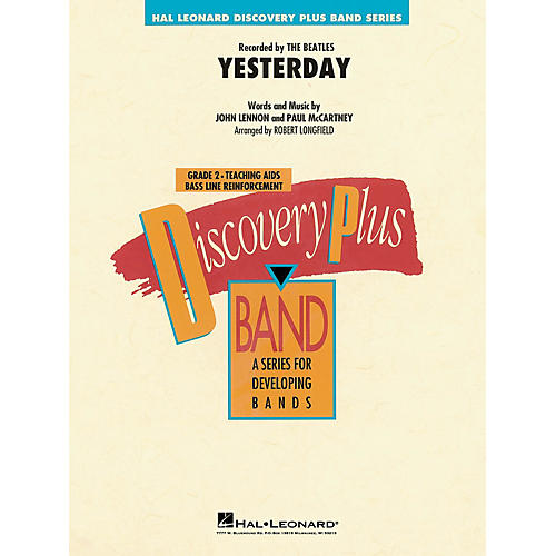 Hal Leonard Yesterday - Discovery Plus Concert Band Series Level 2 arranged by Robert Longfield
