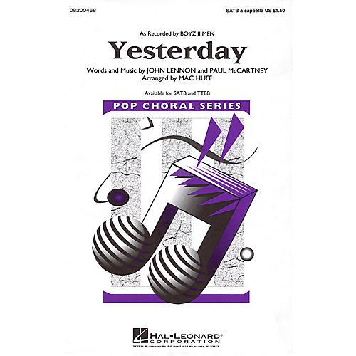 Hal Leonard Yesterday SATB a cappella by Boyz II Men arranged by Mac Huff-thumbnail