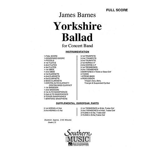Southern Yorkshire Ballad (UIL 2) Concert Band Level 2 Composed by James Barnes-thumbnail