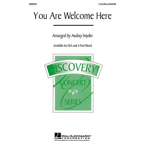 Hal Leonard You Are Welcome Here 3-Part Mixed arranged by Audrey Snyder-thumbnail