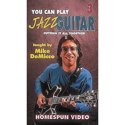 Homespun You Can Play Jazz Guitar 3 (VHS)-thumbnail