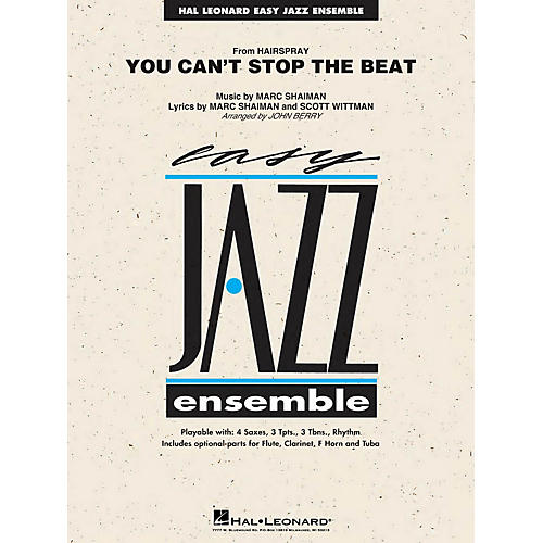 Hal Leonard You Can't Stop the Beat (from Hairspray) Jazz Band Level 2 Arranged by John Berry-thumbnail
