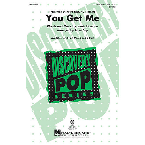Hal Leonard You Get Me (from Disney's Talking Friends) Discovery Level 2 3-Part Mixed arranged by Janet Day