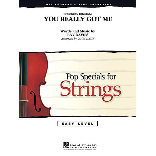 Hal Leonard You Really Got Me Easy Pop Specials For Strings Series Softcover by The Kinks Arranged by James Kazik-thumbnail