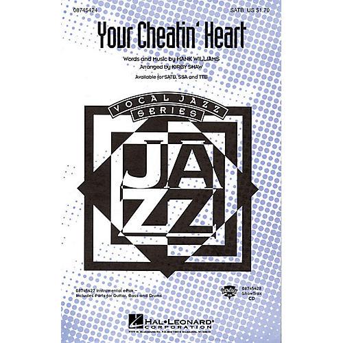 Hal Leonard Your Cheatin' Heart SATB arranged by Kirby Shaw