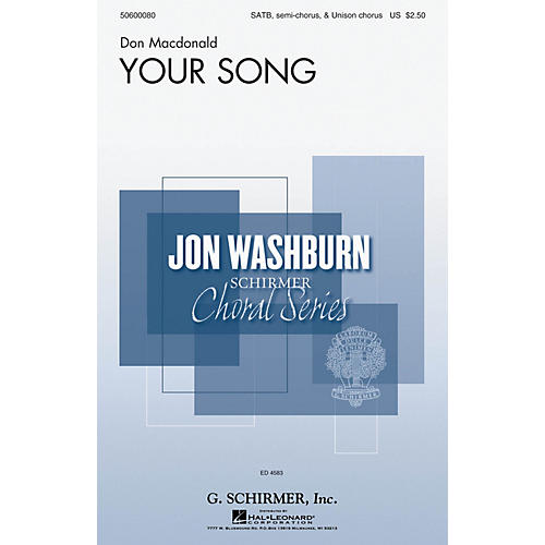 G. Schirmer Your Song (Jon Washburn Choral Series) SSATB composed by Don Macdonald-thumbnail