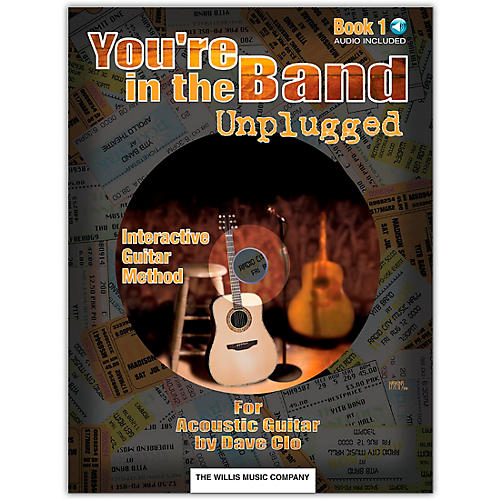 Willis Music You're In The Band Unplugged Book 1 for Acoustic Guitar (Book/Online Audio)-thumbnail