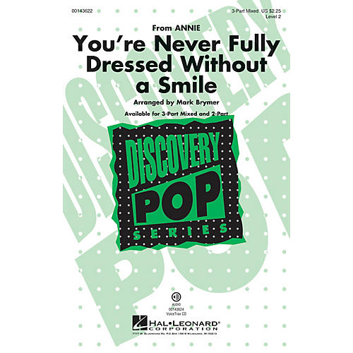 Hal Leonard You're Never Fully Dressed Without a Smile 3-Part Mixed arranged by Mark Brymer