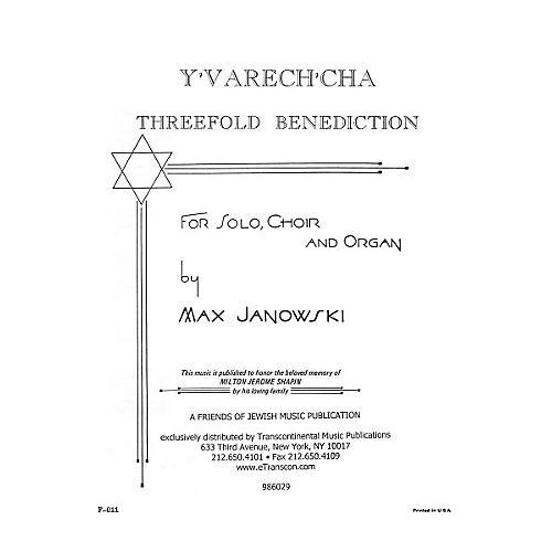 Transcontinental Music Y'varech'cha SATB composed by Max Janowski-thumbnail