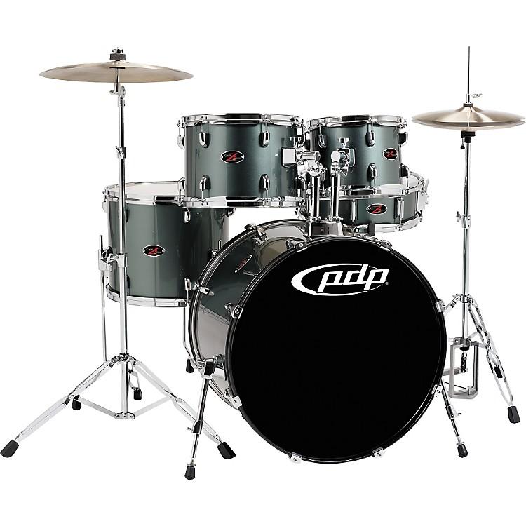 PDPZ5 5-Piece Drum Set with CymbalsGrey Metal