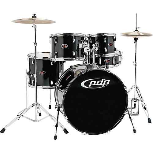 pdp by dw z5 complete drum set with hardware and cymbals carbon black musician 39 s friend. Black Bedroom Furniture Sets. Home Design Ideas