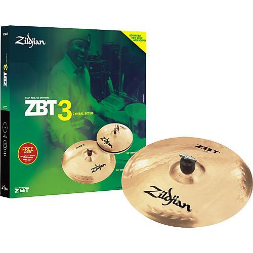 Zildjian ZBT 3 Cymbal Pack with Free 14