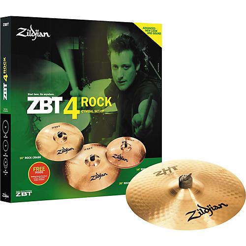 Zildjian ZBT 4 Rock Cymbal Pack with Free ZHT Crash Cymbal