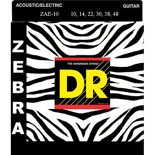 DR Strings ZEBRA Acoustic-Electric Medium (10-46)-thumbnail