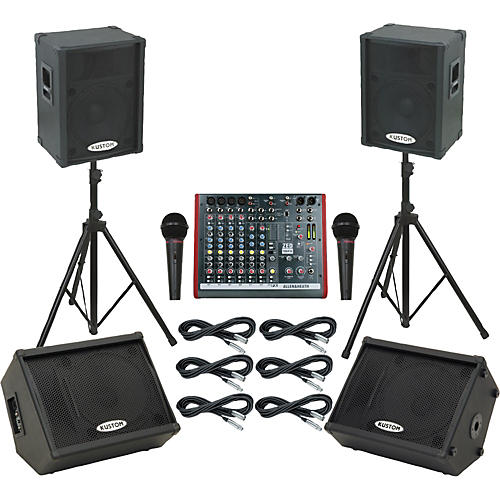 Allen & Heath ZED10FX / KPC15P Mains & Monitors Package