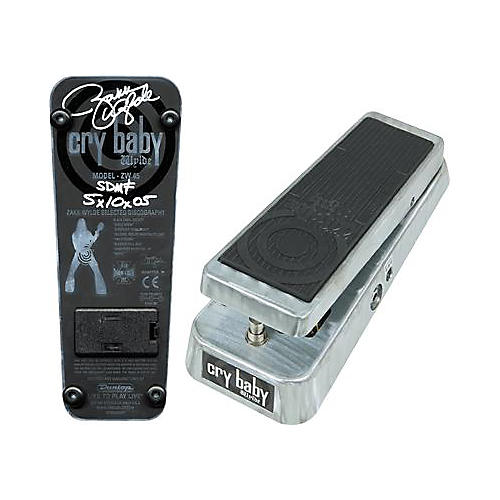 Dunlop ZW-45S Zakk Wylde Autographed Cry Baby Wah Pedal-thumbnail