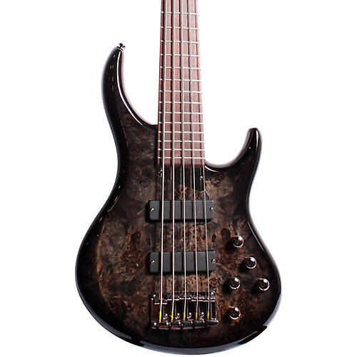 MTD ZX 5-String Electric Bass Guitar Transparent Black Rosewood Fretboard