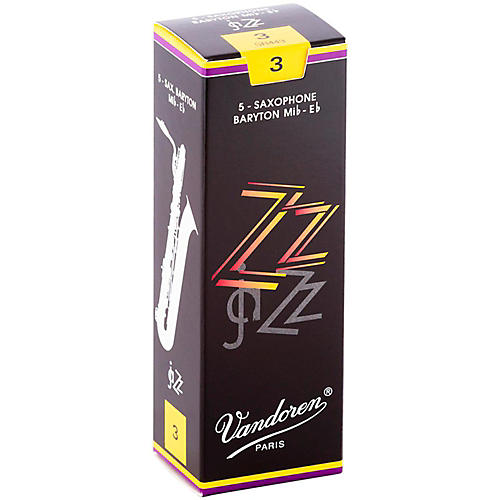 Vandoren ZZ Baritone Saxophone Reeds Strength 3, Box of 5