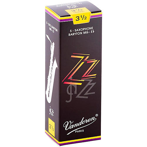 Vandoren ZZ Baritone Saxophone Reeds Strength 3.5, Box of 5