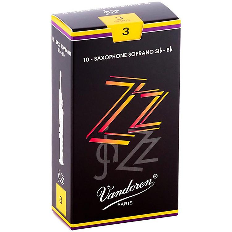 VandorenZZ Soprano Saxophone ReedsStrength 2.5, Box of 10