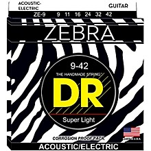 DR Strings Zebra Acoustic Electric Lite (9-42)