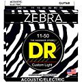 DR Strings Zebra Medium Lite Acoustic-Electric Guitar Strings